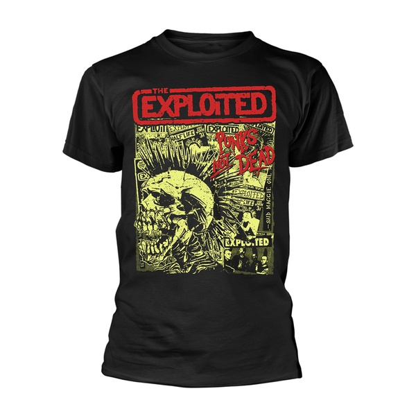 EXPLOITED, punks not dead (boy) black cover