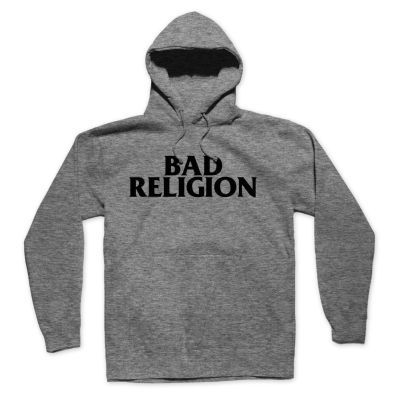 BAD RELIGION, logo (boy) heather grey hoodie cover