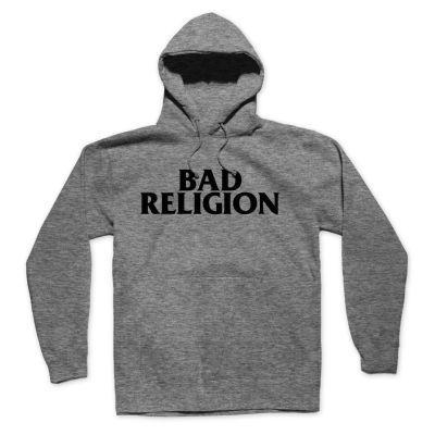 BAD RELIGION, logo (boy) heather grey hoodie cover