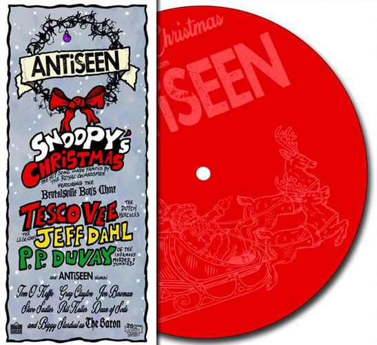 ANTISEEN, snoopys christmas cover