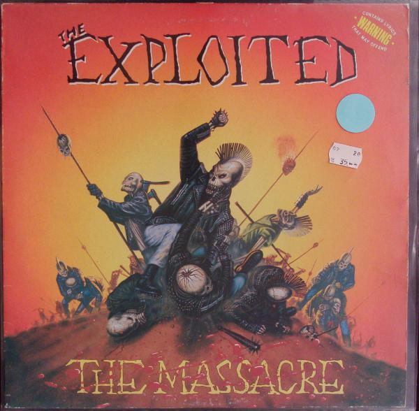EXPLOITED, the massacre (USED) cover