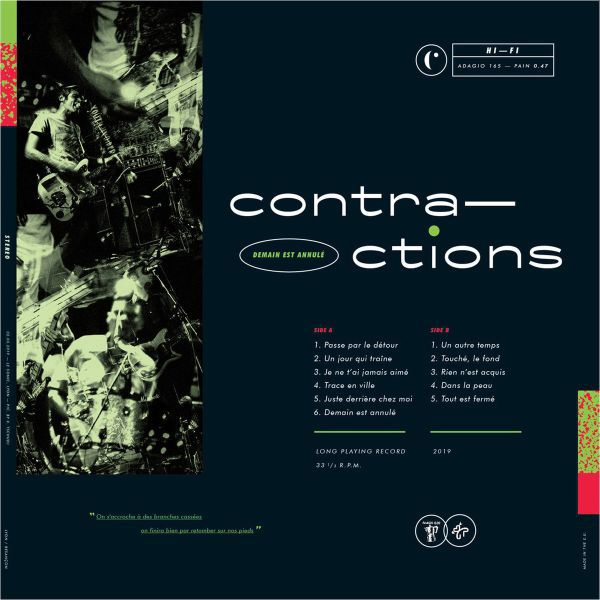 CONTRACTIONS, demain est annule cover