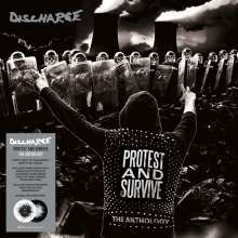 DISCHARGE, protest and survive: the anthology cover