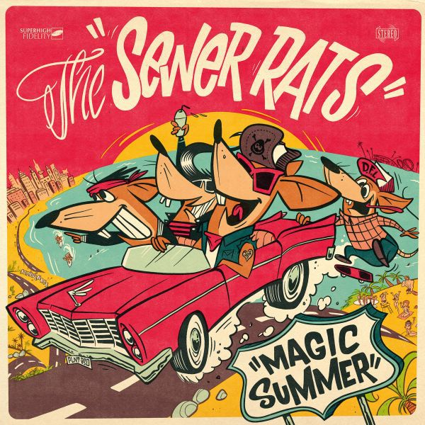 SEWER RATS, magic summer (piss yellow) cover