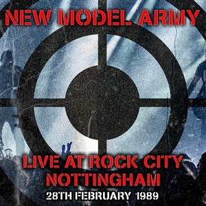 NEW MODEL ARMY, live at rock city nottingham 1989 cover