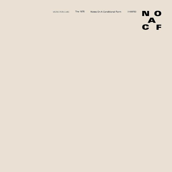 THE 1975, notes on a conditional form cover