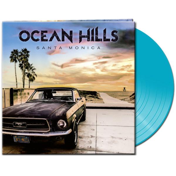 OCEAN HILLS, santa monica (light blue vinyl) cover
