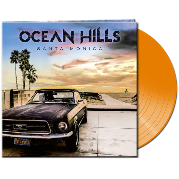 OCEAN HILLS, santa monica (clear orange vinyl) cover