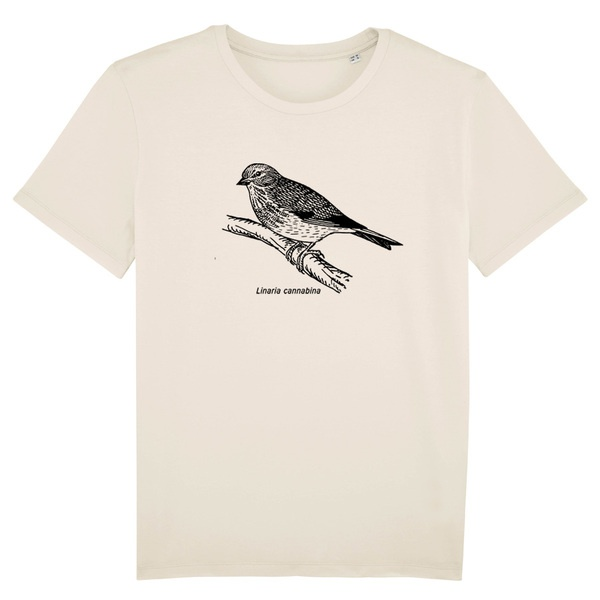BIRDSHIRT, hänfling (boy), natural cover