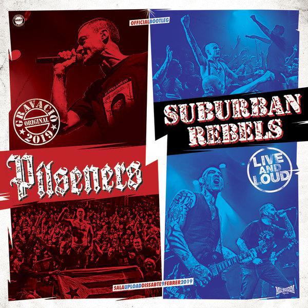 PILSENERS / SUBURBAN REBELS, live & loud cover
