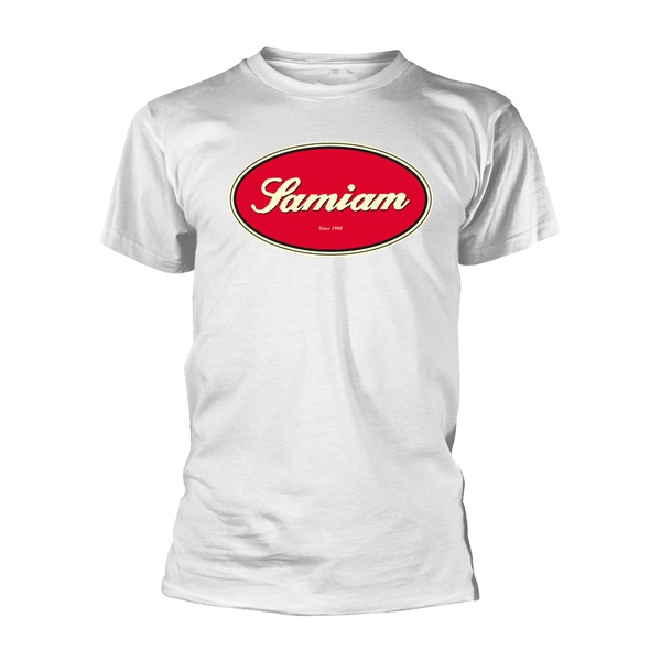 SAMIAM, oval logo (boy) white organic shirt cover