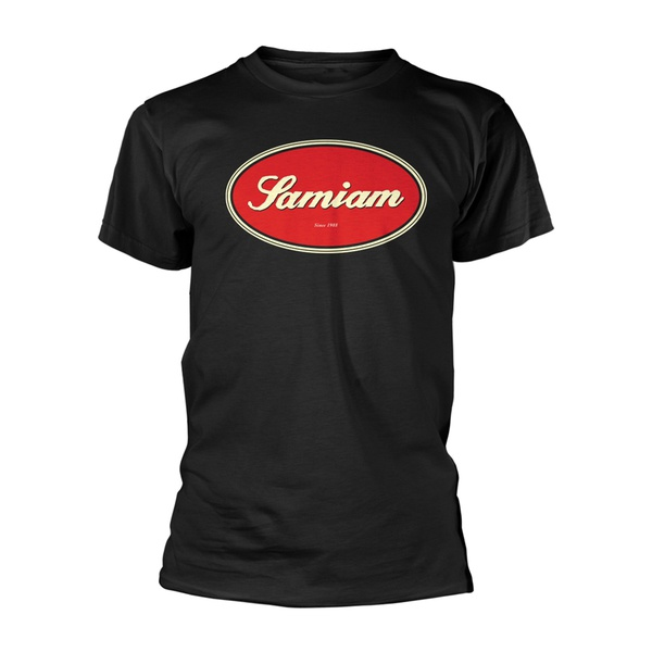 SAMIAM, oval logo (boy) black organic shirt cover