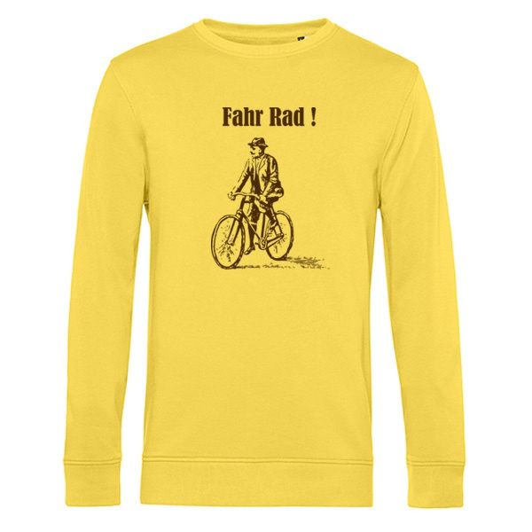 ORANGE BEAT, fahr rad (sweater), yellow fizz cover