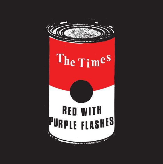 THE TIMES, red with purple flashes cover