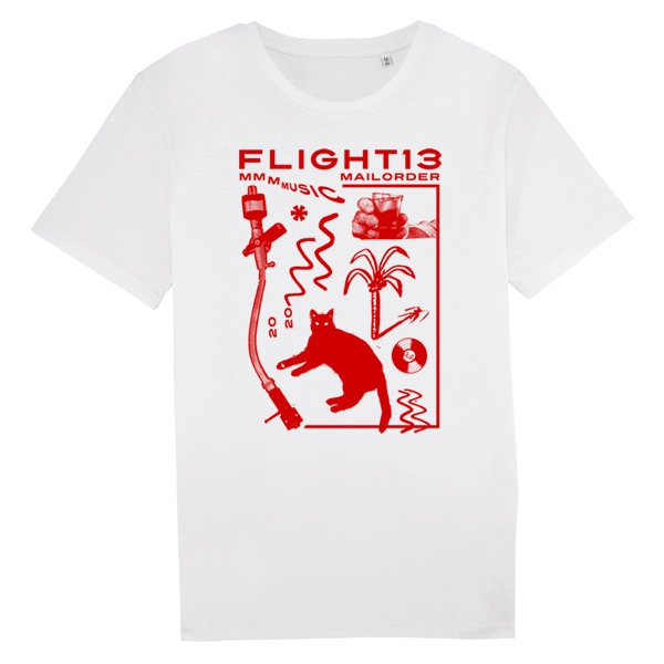 FLIGHT 13, künsi (boy), red on white cover