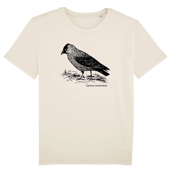 BIRDSHIRT, dohle (boy), natural cover