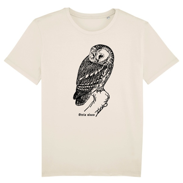 BIRDSHIRT, waldkauz (boy), natural cover