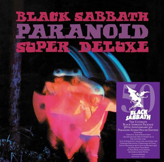 BLACK SABBATH, paranoid (50th anniversary edition) cover