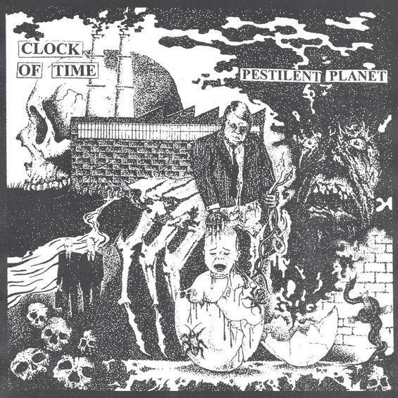 CLOCK OF TIME, pestilent planet cover