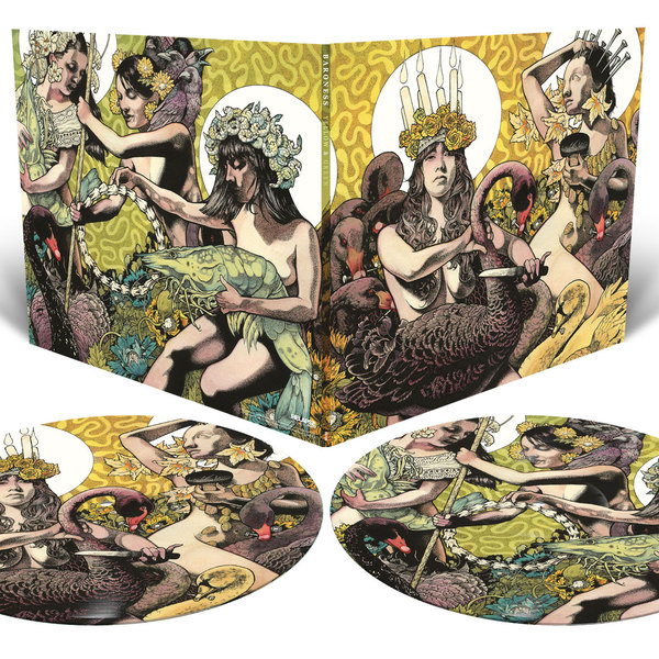 BARONESS, yellow & green (picture disk) cover