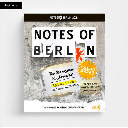 NOTES OF BERLIN 2021, kalender cover
