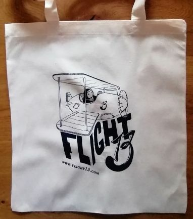 FLIGHT 13, stofftasche_doppeldecker_natur cover