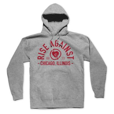 RISE AGAINST, classic arch (boy) heather gray hoddie cover