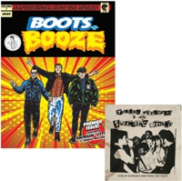 BOOTS-N-BOOZE, comic with swingin´ utters 7inch cover