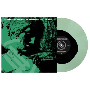 STRIKE ANYWHERE, nightmares of the west (blk in coke brottle green) cover
