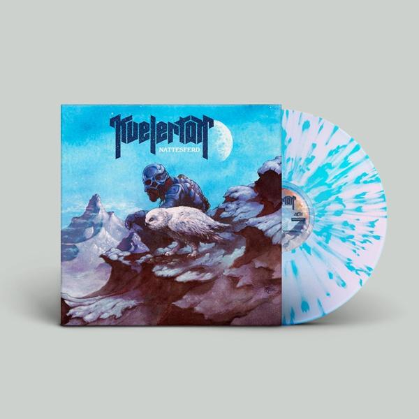 KVELERTAK, nattesferd (white / blue splatter) cover
