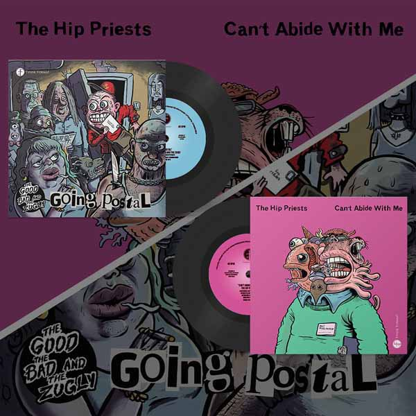THE GOOD THE BAD AND THE ZUGLY / THE HIP PRIESTS, split cover