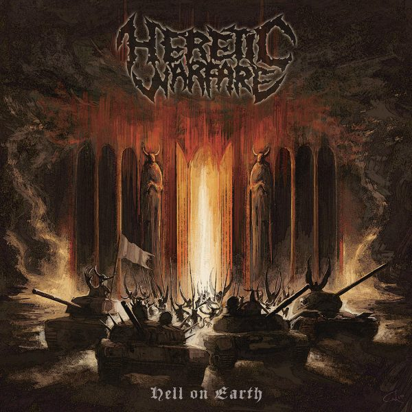HERETIC WARFARE, hell on earth cover