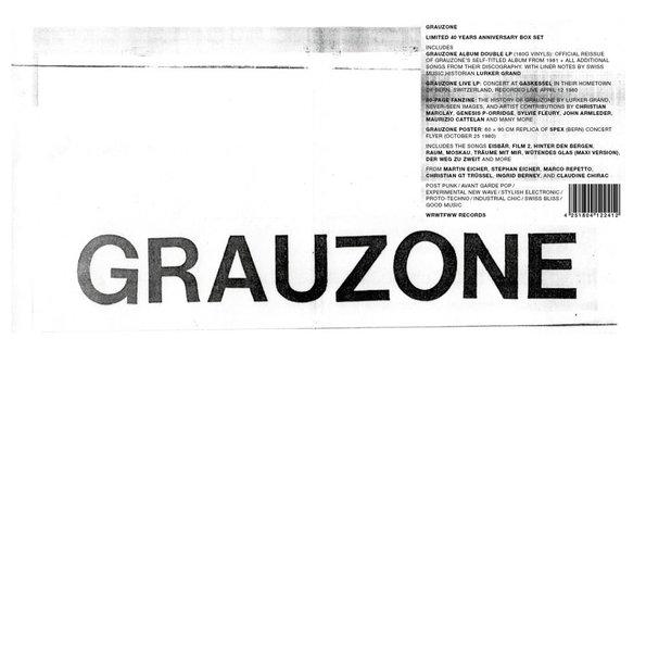 GRAUZONE, 40 years anniversary boxset cover