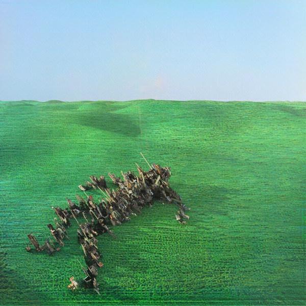 SQUID, bright green field cover
