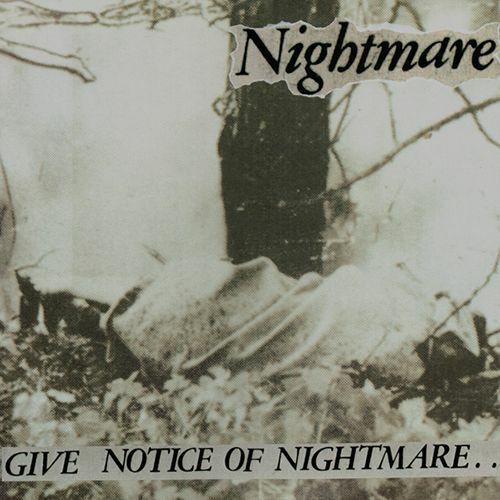 NIGHTMARE, give notice of nightmare cover
