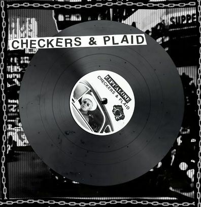 LEFT ALONE, checkers & plaid cover