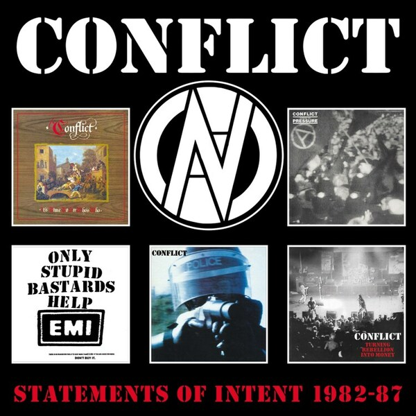 CONFLICT, statements of intent 1982-1987 cover