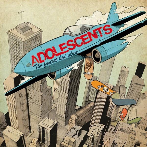 ADOLESCENTS, fastest kid alive (grün gelb vinyl) cover