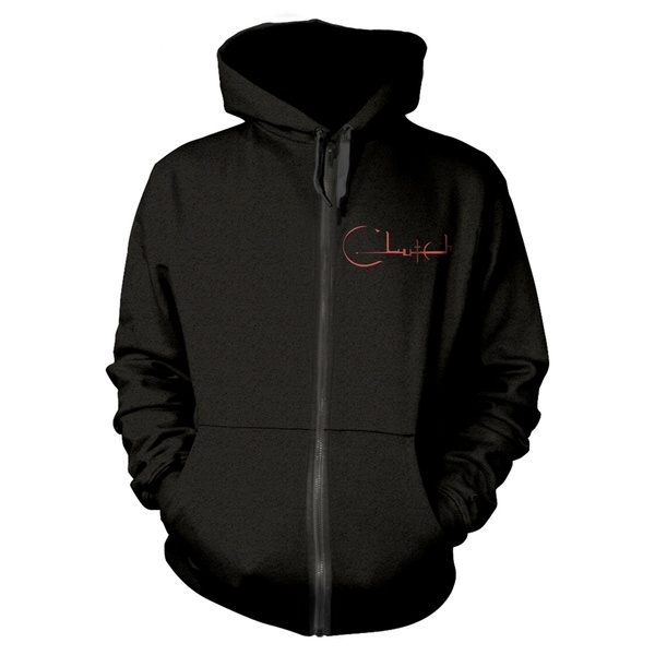 CLUTCH, horserider (boy) black zip hoodie cover