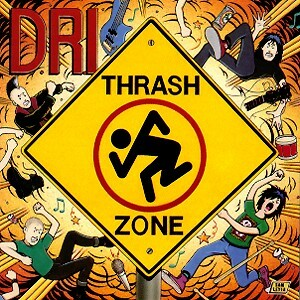 D.R.I., thrash zone (yellow marbled vinyl) cover