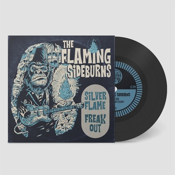 FLAMING SIDEBURNS, silver flame cover
