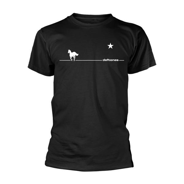 DEFTONES, white line pony (boy) black cover