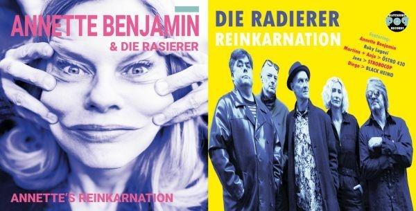 ANNETTE BENJAMIN & RASIERER / DIE RADIERER, split cover