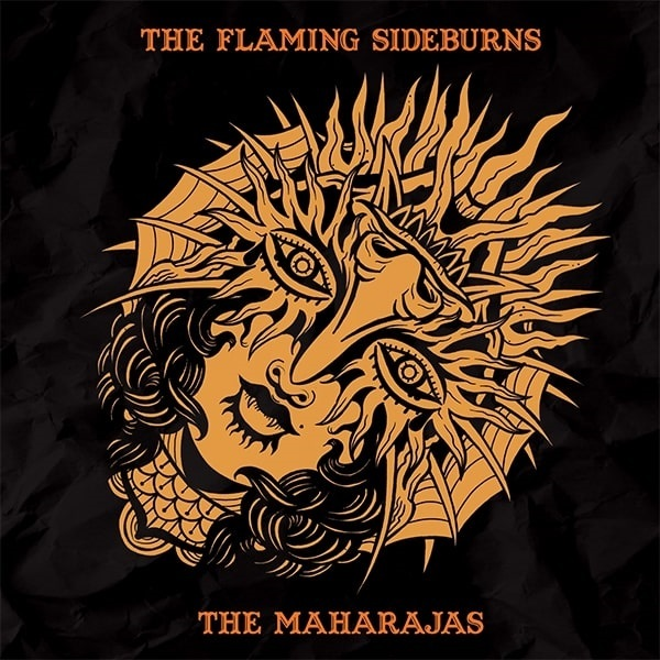 FLAMING SIDEBURNS / MAHARAJAS, split cover