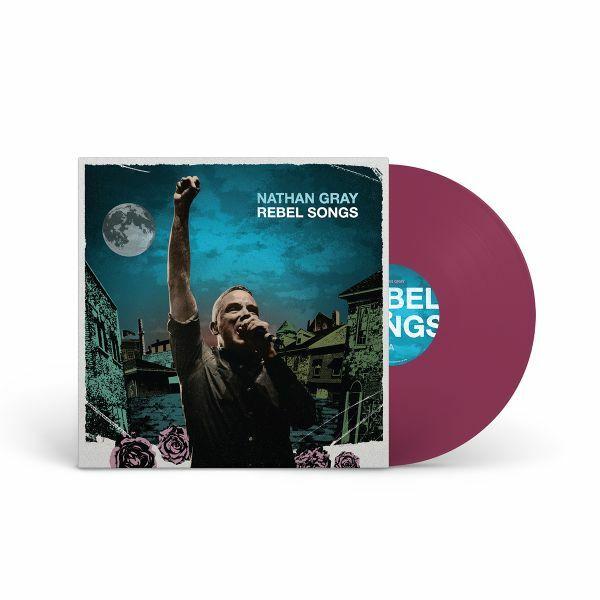 NATHAN GRAY, rebel songs (purple vinyl) cover