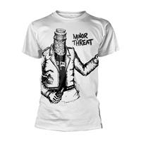 MINOR THREAT, bottle man (boy) white cover