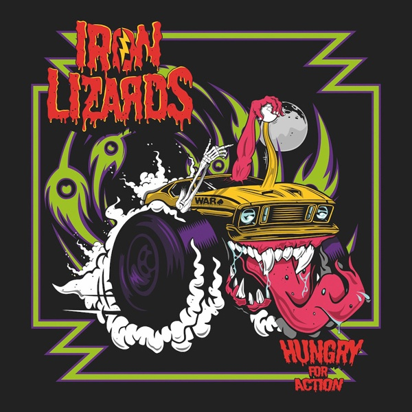 IRON LIZARDS, hungry for action cover