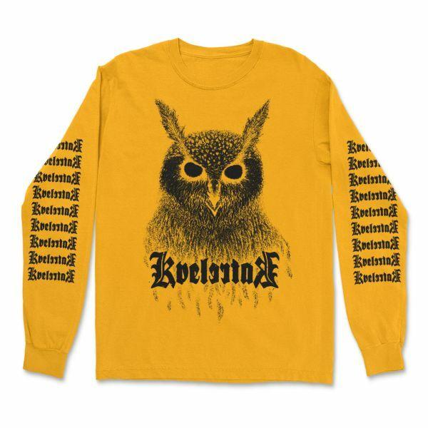 KVELERTAK, barlett owl (boy) longsleeve gold cover