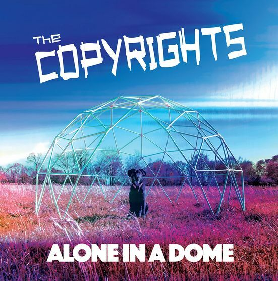 COPYRIGHTS, alone in a dome - blue vinyl cover