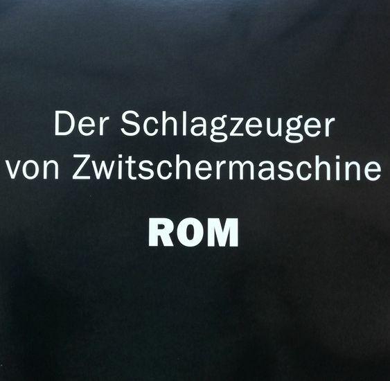 DER SCHLAGZEUGER VON ZWITSCHERMASCHINE, rom cover